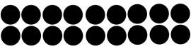 etiketten cirkel small - schoolbordsticker  / krijtbordsticker
