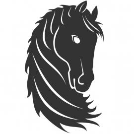 wandsticker - Paard 1