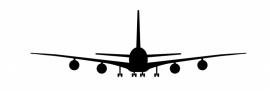 Wandsticker  - vliegtuig 2