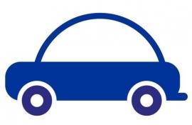 Wandsticker - Auto met rond dak