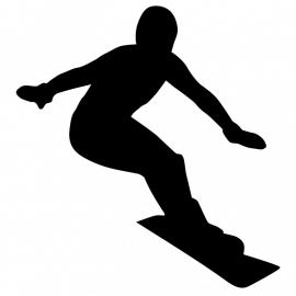 Wandsticker - snowboarder 2