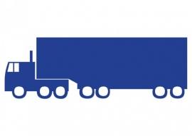 Wandsticker - vrachtauto