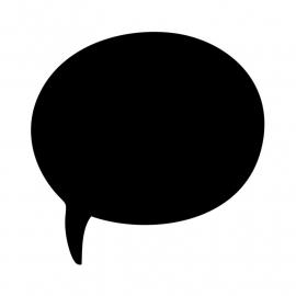 Schoolbordsticker / krijtbordsticker - tekst ballon 1 klein