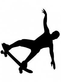 Wandsticker - Skate boarder