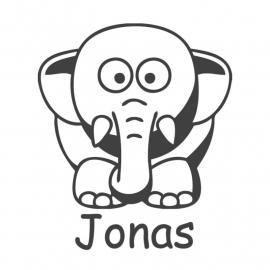 Deursticker klein - Jonas Olifant