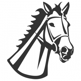 wandsticker - Paard 6