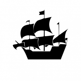 Wandsticker - Piratenschip 3