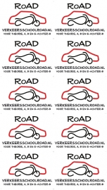 full color stickers - Road rijschool