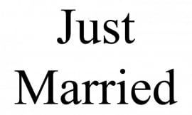just married raamsticker