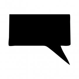 Schoolbordsticker / krijtbordsticker - tekst ballon 3 klein