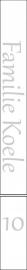 maatwerk raamfolie - letters - familie Koele