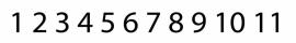 maatwerk vinyl - cijfers 1 t/m 20