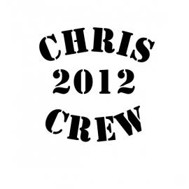 maatwerk - strijkletters - Chris 2012 crew