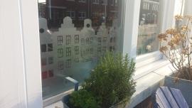 Grachtenpanden -  etched glass raamfolie