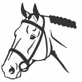wandsticker - Paard 2