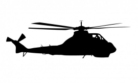 Wandsticker  - helicopter 6