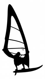 Wandsticker - Surfer