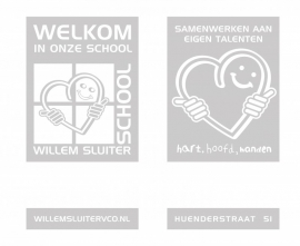 Maatwerk - raamfolie  Willem Sluiterschool