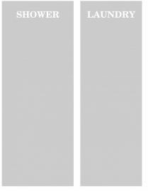 maatwerk raamfolie - shower - laundy incl. rakel