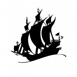 Wandsticker - Piratenschip 2