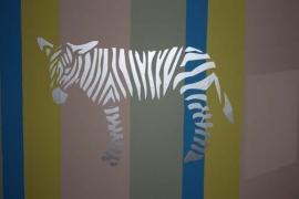 Wandsticker medium Zebra