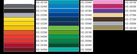 Kleurkaart matte folie
