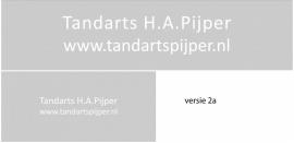 maatwerk raamfolie - Tandarts Pijpers