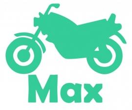 Deursticker - Motor - Max