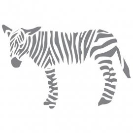 Wandsticker large zebra