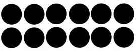 25 cirkels krijtbordfolie -diameter 99 cm.