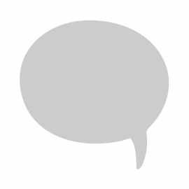 Whiteboardsticker - tekst ballon 1 klein - gespiegeld