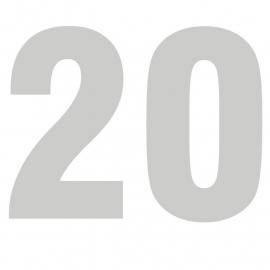 maatwerk folie - cijfer 20