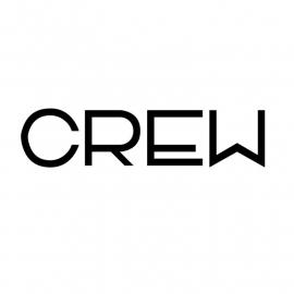 maatwerk strijkletters - CREW
