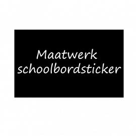 schoolbordsticker / krijtbordsticker eigen ontwerp
