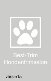 maatwerk raamfolie - Honden trimsalon