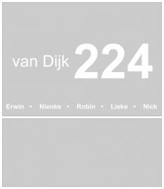 maatwerk raamfolie - Fam. van Dijk