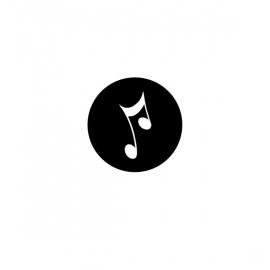 strijkapplicatie met muzieknoot