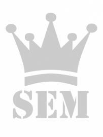 maatwerk wandsticker in sjabloonfolie - Kroon - SEM