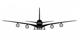 maatwerk wandsticker - Vliegtuig 4 - extra groot
