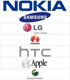 maatwerk - full color stickers met verschillende telecom logo's