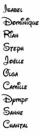 strijkletters disney script