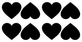 etiketten hart groot - schoolbordstickers krijtbordstickers