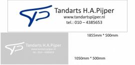 maatwerk raamfolie - Tandarts Pijper