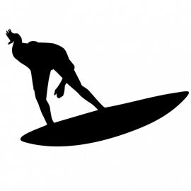 Wandsticker surfer 3