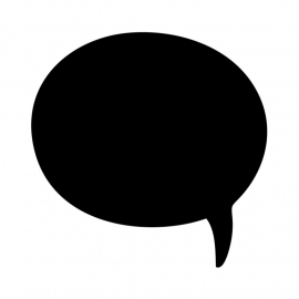 Schoolbordsticker / krijtbordsticker - tekst ballon 1 klein - gespiegeld