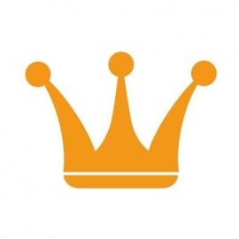 maatwerk strijk applicatie kroon 4 - verschillende maten