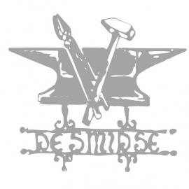 Etched glass logo - De Smidse *