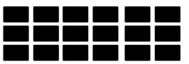 etiketten - krijtbordfolie rechthoek  - met afgeronde hoeken 1