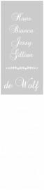 Maatwerk raamfolie - Fam. de Wolf