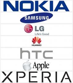 maatwerk full color sticker - verschillende telecom logo's